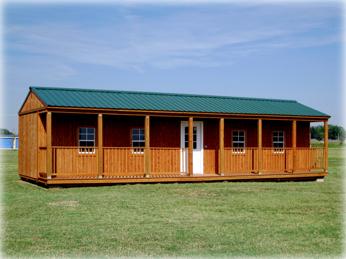 Graceland Side Porch Cabin Discount Portable Buildings
